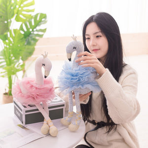 Amazing Swan Plush Toys Cute Flamingo Doll Stuffed Soft Animal Doll Ballet Swan With Crown Baby Kids Appease Toy Gift For Girl