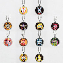 Load image into Gallery viewer, 12pcs/lot Five Nights at Freddy's Necklace FREDDY FAZBEAR Scrabble Tile FNAF Pendant Keychain Brinqudoes bebe