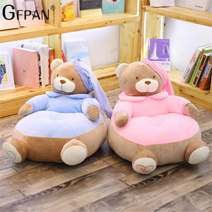 New 55cm Lovely Cartoon Kids Sofa Chair Plush Seat Baby Nest Sleeping Bed Adult Pillow Stuffed Teddy Bear Plush Toys