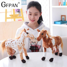 Load image into Gallery viewer, 1pc 60-30cm Simulation Horse 5 Styles Simulation Stuffed Animal Plush Dolls High Quality Classic Toys For Children Gift