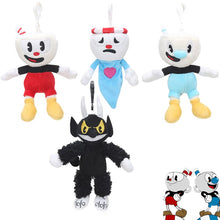 Load image into Gallery viewer, 16pcs/lot Cuphead Plush Keychain Toys Cuphead Mugman Cuphead S1-King Dice Boss the Devil Collectible Stuffed Animal Dolls Toy