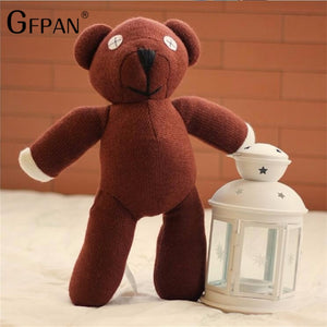 High Quality 1pcs 23cm Genuine Mr. Bean Teddy Bear The Tactic Stuffed Toy Creative Bear Cute Toys Dolls Birthday Gift For Kids