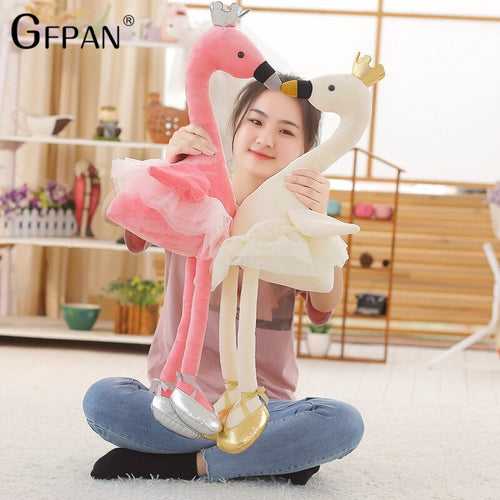 1M Wonderful Skirt Swan Super Lovely Animal Stuffed&Plush Baby Cotton Toys Party Popular Doll For Children Creative Girls Kids
