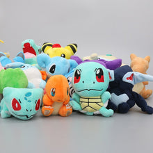 Load image into Gallery viewer, 16pcs/set 12-22cm Pocket Center Plush Toys Gengar Snorlax Lucario Charmander Squirtle Bulbasaur Jigglypuff Dragonite Soft Dolls