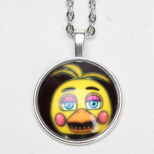 12pcs/lot Five Nights at Freddy's Necklace FREDDY FAZBEAR Scrabble Tile FNAF Pendant Keychain Brinqudoes bebe