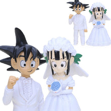 Load image into Gallery viewer, Set of 2 Japan Anime Dragon Ball Z Son Goku ChiChi Wedding PVC Action Figure Toys Dragonball Z Collectible Model Dolls Brinqudoe