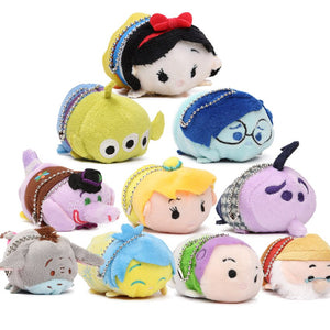 "3.5"" 10pcs Mini Plush Toy Doll Cute Screen Cleaner Plush Toy Juguetes Snow White Mermaid Duck Princess Cinderella Toys"