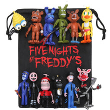 Load image into Gallery viewer, New 13pcs/lot FNAF PVC Action Figures with Bag 10-11.5cm Five Nights At Freddy's Freddy Fazbear Foxy Dolls Toys brinqudoes