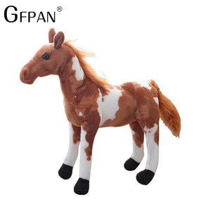 1pc 60-30cm Simulation Horse 5 Styles Simulation Stuffed Animal Plush Dolls High Quality Classic Toys For Children Gift