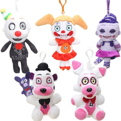 15cm 15pcs Funtime Foxy Freddy Fazbear Plush Keychain Sister Location Figure Toy Five Nights At Freddy's Collectible Dolls FNAF