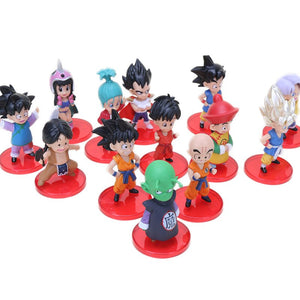 7cm 10cm Dragon Ball Z Toys Son Goku Chichi Gohan Bulma Trunks Krillin Piccolo Vegata PVC Action Figure Set Dragonball Z Figures