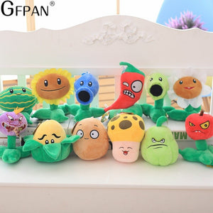 New Fashion 20pcs/set Plants vs Zombies Lovely Plush&Stuffed Toys Popular Games PVZ Hot Doll Creative Birthday Gifts For Kids