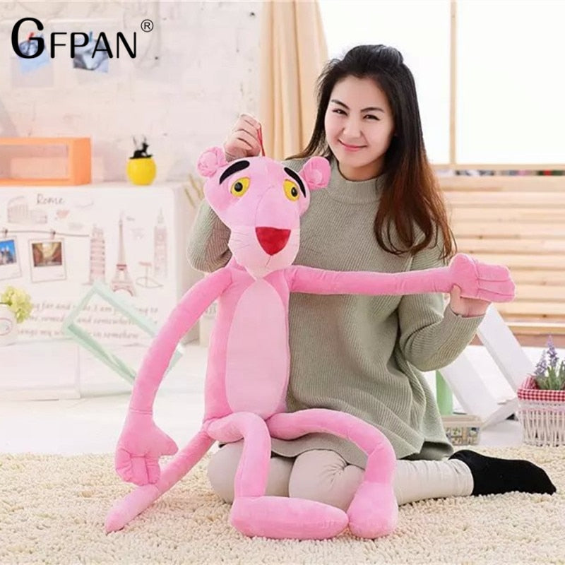 1pc 40cm Lovely Pink Naughty Leopard Pink Panther Plush Animals Stuffed Toys Baby Kids Doll Brinquedos Girls Gifts