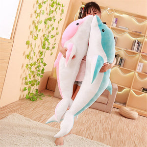 Low price 30cm Kawaii Dolphin Plush Toys Doll Stuffed Down Cotton Anima Nap Pillow Creative Kids Toy Christmas Gift for Girls