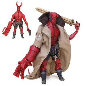 Heroes Series Hellboy PVC Action Figure 1000Toys Hellboy Demon of Hell 1/12 Scale Collectible Model Doll Toy