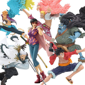 14-20cm One Piece Scultures BIG Zoukeiou 6 Vol.5 PVC Figure Monkey D Luffy Jinbe Doflamingo Tashigi Smoker Marco Model Dolls Toy