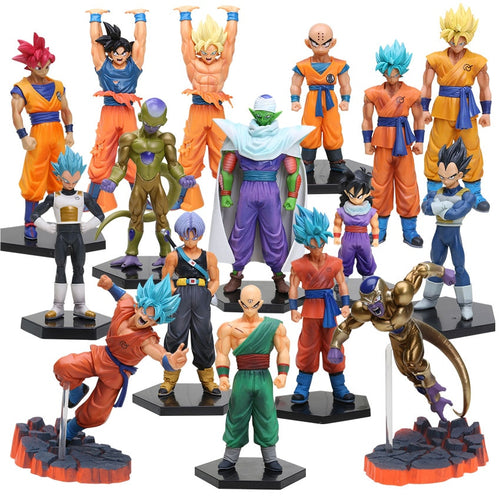 10-26cm Dragon Ball Z DXF Figures Trunks Vegeta Super Saiyan God Son Gokou Freeza Kuririn Collectible Model Toy Dragonball Dolls