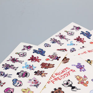 10pcs/lot Five Nights at Freddy's Decal Stickers For Car Laptop Cupcake Freddy Fazbear Springtrap Waterproof FNAF Stickers