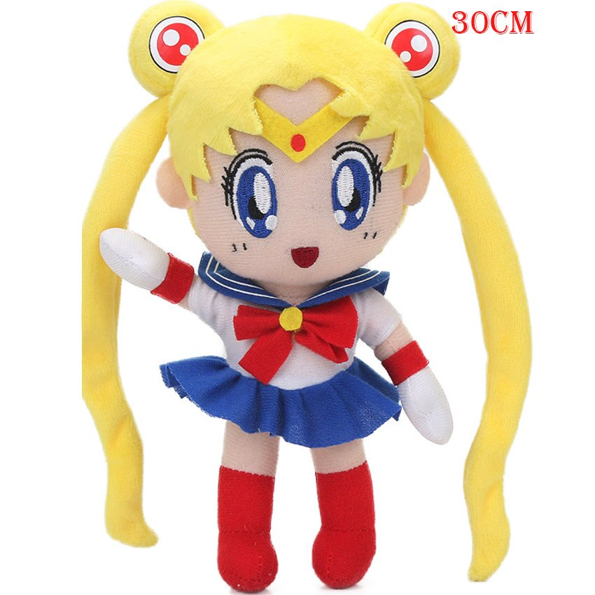 5pcs Large Plush 11.8inch 30cm 5pcs Sailor Moon Plush Toys Sailor Soft Characters Dolls juguetes de peluche