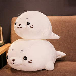 1pc 50-60cm Cute Stuffed Sea Lion Plush Toy Soft Pillow Kawaii Cartoon Animal Seal Toy Doll for Kids Lovely Chilren's Gift