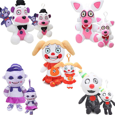 2pcs/set Funtime Sister Location Freddy Fazbear Ennard Circus Baby Plush Toys Five Nights At Freddy's Dolls FNAF Plushies