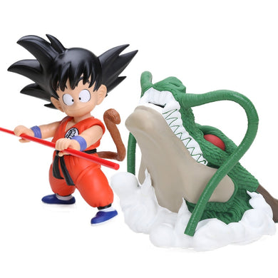 17cm DBF Anime Dragon Ball Z The Green Dragon Shenron Son Goku Gokou PVC Action Figures Set Dragonball Figuren Collectible Model