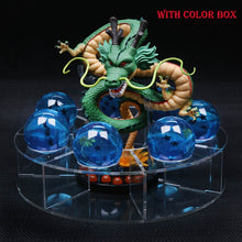 Load image into Gallery viewer, 1 Dragon +7 Blue Crystal Balls 4cm +1 Shelf Dragon ball Z Action Figures Toys Dragonball Z Shenron Collection Figuras Figurines