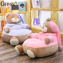 Load image into Gallery viewer, New 55cm Lovely Cartoon Kids Sofa Chair Plush Seat Baby Nest Sleeping Bed Adult Pillow Stuffed Teddy Bear Plush Toys