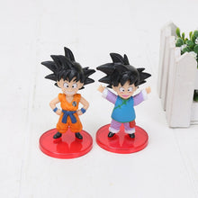 Load image into Gallery viewer, 7cm 10cm Dragon Ball Z Toys Son Goku Chichi Gohan Bulma Trunks Krillin Piccolo Vegata PVC Action Figure Set Dragonball Z Figures
