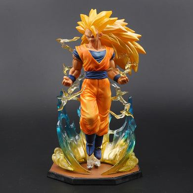 18cm Box Figurine Super Saiyan 3 Son Goku PVC Action Figures Dragon Ball Z Collection Model DBZ Esferas Del Dragon Toy OPP