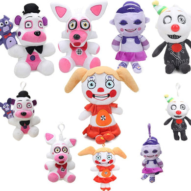 10styles FNAF Sister Location Funtime Foxy Fazbear Ennard Ballora Baby Plush Toys Five Nights At Freddy's Collectible Dolls