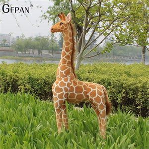 Huge Size 100-120cm Simulation Giraffe Kawaii Soft Plush Toys Cute Stuffed Animal Dolls Birthday Gift For Children High Quality