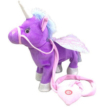 Load image into Gallery viewer, Hot Toy 1pc Electric Walking Unicorn Plush Toy Stuffed Animal Toy Electronic Music Unicorn Toy for Children Christmas Gifts