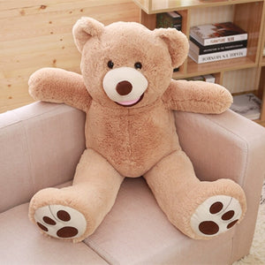 New Arrival 1M American Giant Bear Plush Toy Big Size USA Teddy Bear Stuffed Animal Doll Valentine Gift for Girls