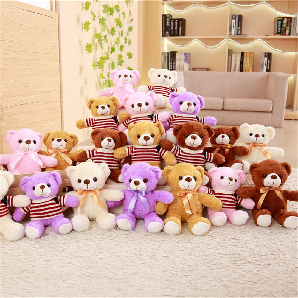 1pc 30cm Kawaii Teddy Bear Stuffed Plush Doll Cute Bear Animal Doll Toy Stuffed Bear Toy Kid Toy Children Birthday Gift