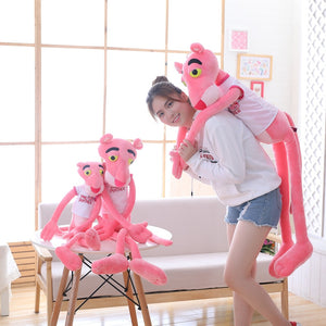 1pc 55cm kawaii Pink Panther with T-shirt Plush Toys Cute Children Dolls Stuffed Soft Hot Anime Toys Birthday Gift for Baby