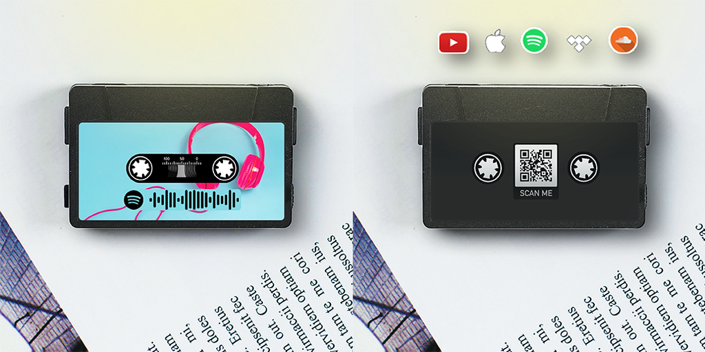 Tiny Tape with Spotify & QR Code