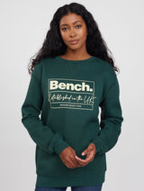 Large Square Cursive Crewneck