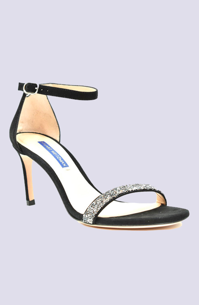 Stuart Weitzman Black Leather Sandal