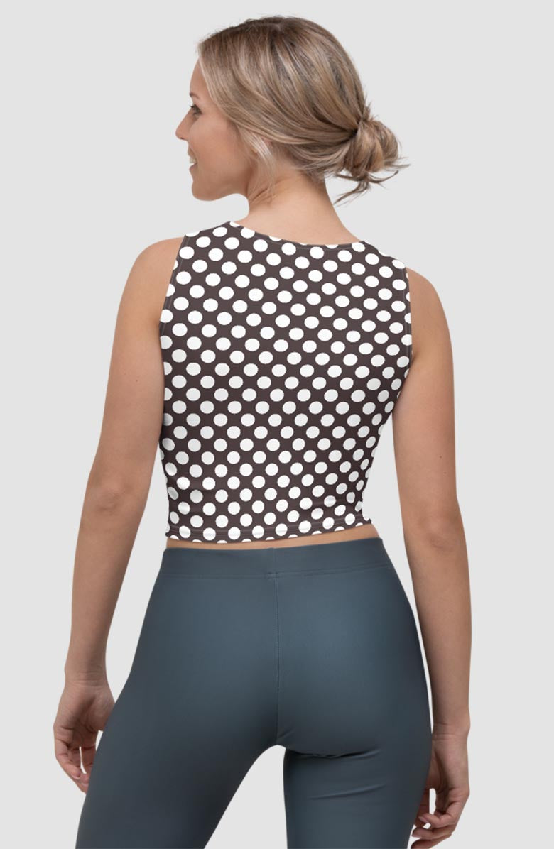 Vintage Dots Crop Tank Top