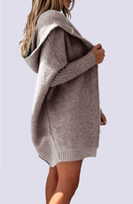 Oversized Weaver Hooded Cardigan