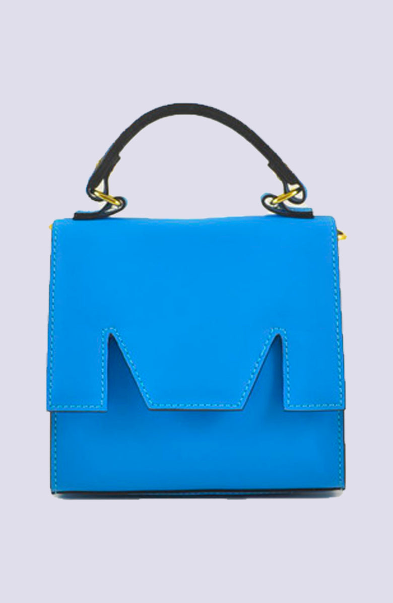 MSGM Blue Mini M Tote Bag