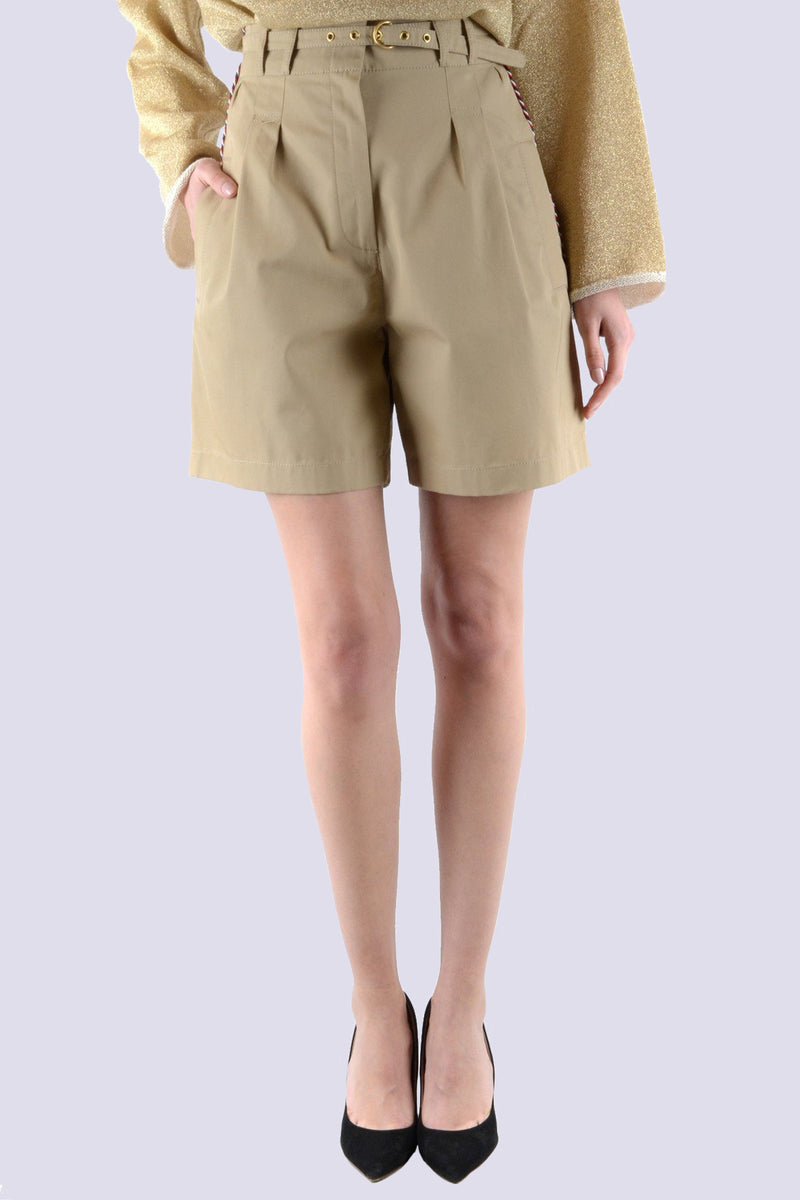 Philosophy Pleated Khaki Shorts