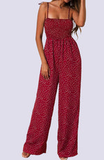 Shirred Bodice Wide Leg Jumpsuit by WMNSWR