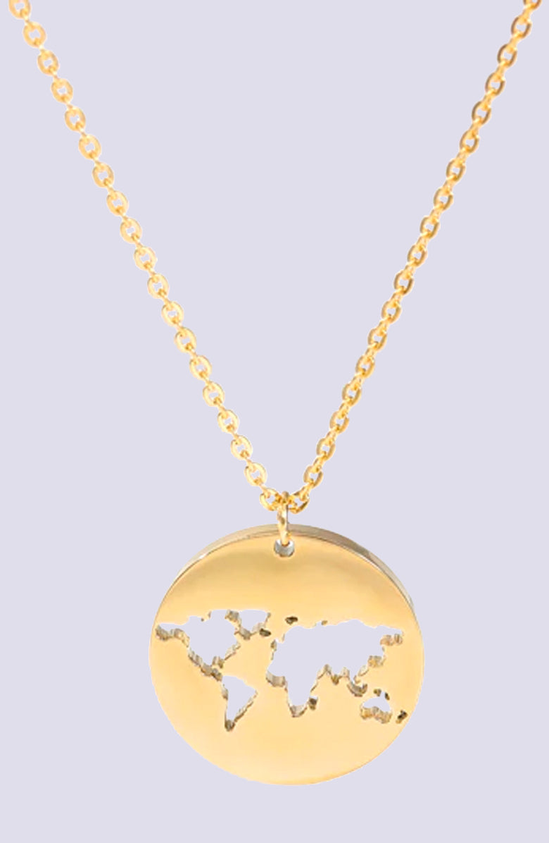 Send Me On My Way Gold Pendant