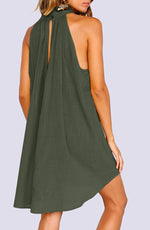 Pepino Sleeveless Hi-Low Linen Mini Dress