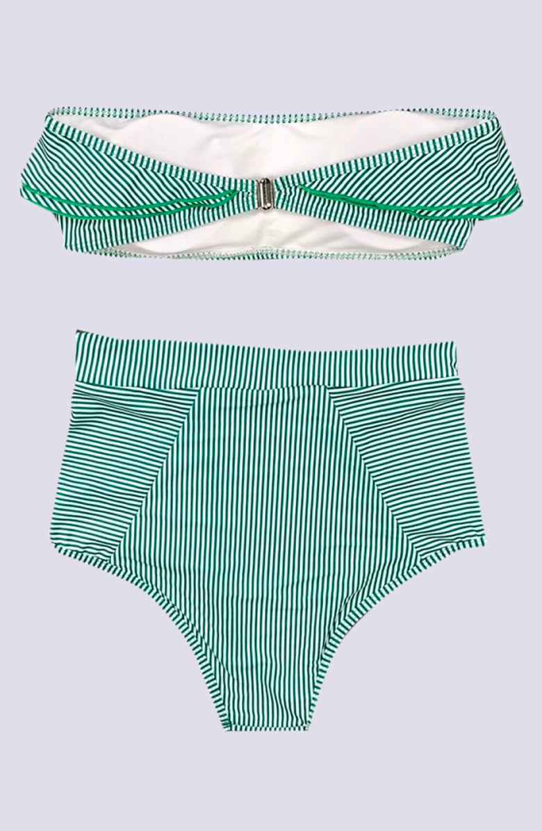 Adelaide Grass Seersucker Bikini by Pretty Swim