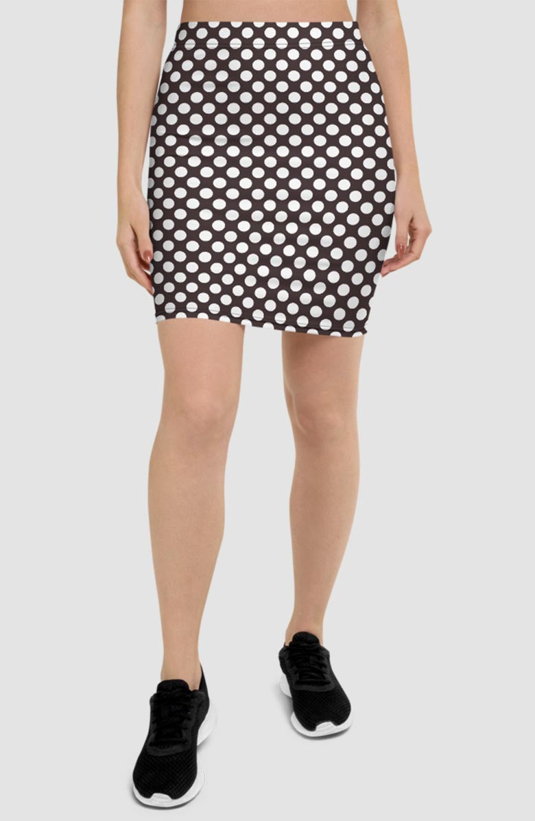 Vintage Dots Pencil Skirt
