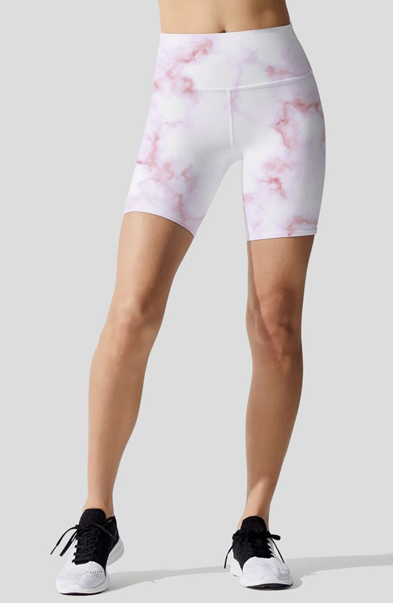 Pastel Marble Pink Indio Bike Short