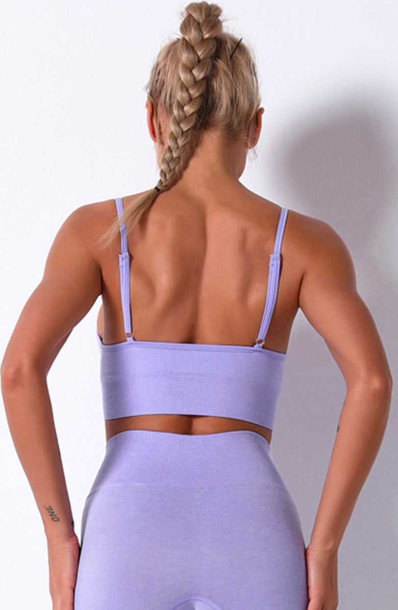 Plum Server Sports Bra by Booty Clothing